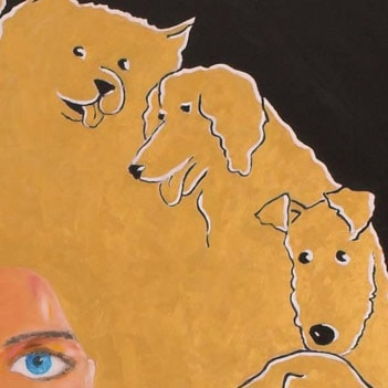 Detail of Beware of the dogs